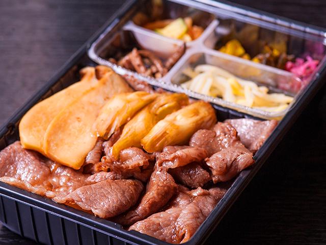 山水苑のお弁当(すき焼き弁当)