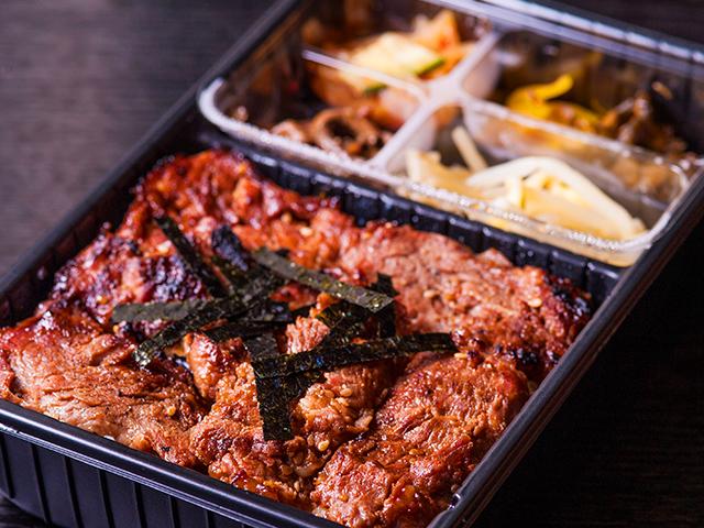 山水苑のお弁当(イベリコ豚弁当)